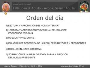 Junta General - Falla Juan de Aguiló