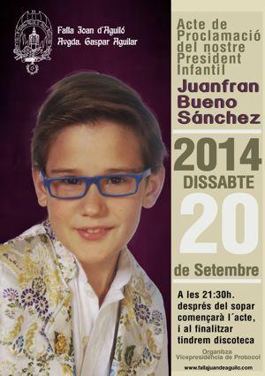 Proclamación del Presidente Infantil, Juanfran Bueno.