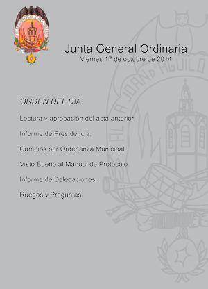 Junta General Ordinaria, para el viernes 17 de octubre