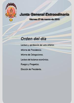 Junta General Extraordinaria, el viernes 27 de marzo