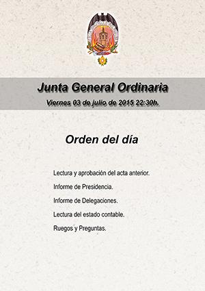 Junta General, viernes 3 de julio.
