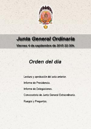 Junta General Ordinaria, viernes 4 de septiembre