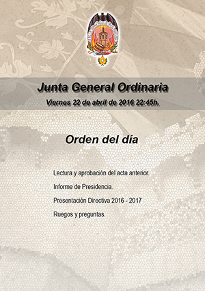 Junta General, viernes 22