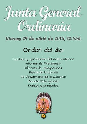 Junta Ordinaria, viernes 29