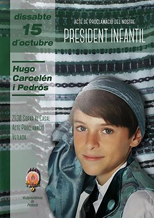 Proclamación del Presidente Infantil. Hugo Carcelén